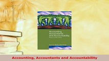 Download  Accounting Accountants and Accountability Read Online