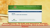 OUINL ] [R E A D]] ACCA Approved - F8 Audit and Assurance