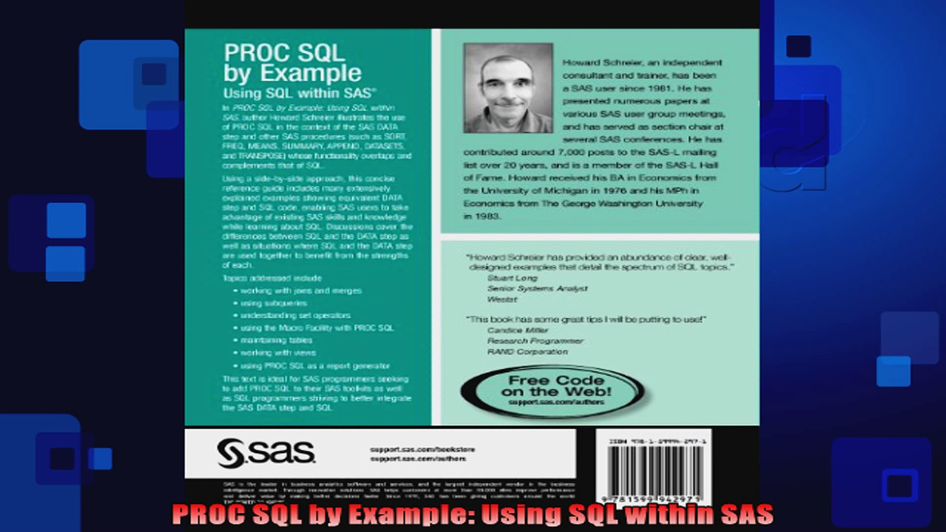 PROC SQL by Example Using SQL within SAS