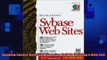 Building Sybase Web Sites Prentice Hall Ptr Building a Web Site Series