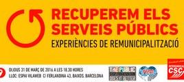 Acte de la Intersindical-CSC sobre remunicipalització i serveis públics, a VilaWeb