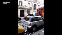 Les images impressionnantes d'une explosion due au gaz à Paris