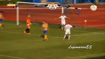 Gol de Ricardo Ulloa en su partido de Debut - FK Spartaks Jurmala 2-3  FK Ventspils