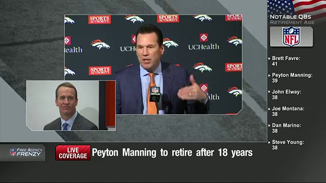 Peyton Manning Retirement Press Conference (Full)  NFL News 10