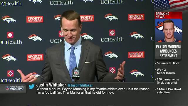 Peyton Manning Retirement Press Conference (Full)  NFL News 24