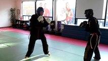 Teen kickboxing class Toronto Martial Arts School