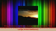 PDF  King Solomons Mines Large Print Edition The Complete  Unabridged Classic Edition Read Online