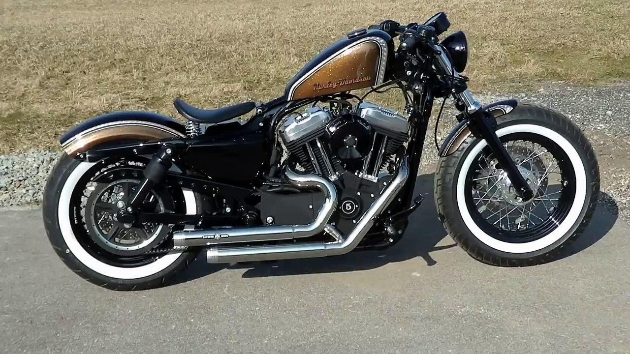 Harley Davidson Sportster Bobber 48 Www Mr Bobber Custom Com Video Dailymotion