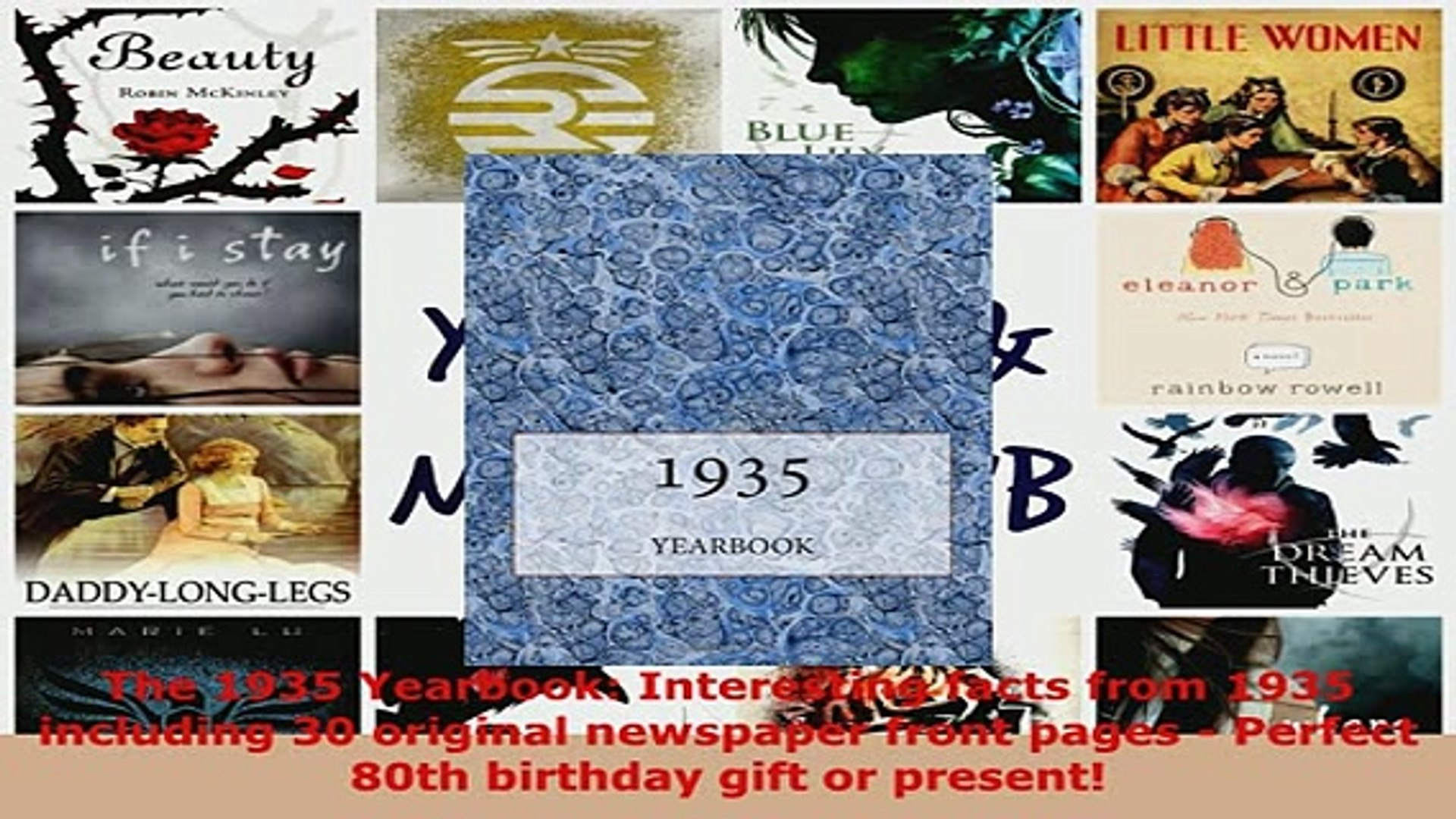 PDF  The 1935 Yearbook Interesting facts from 1935 including 30 original newspaper front pages Read Online