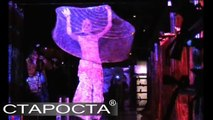 Multimedia Art Performance in Fabrique Night Club in Moscow in 2006