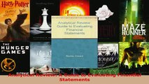 PDF  Analytical Review A Guide to Evaluating Financial Statements Download Online