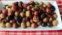 Marble Potatoes New Potatoes Pan Roasted with Bacon