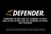 Compare DEFENDER Hi-Res 480TVL Camera and Ultra Hi-Res 600TVL Camera - Day Footage