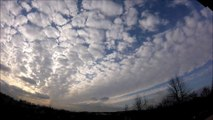 Fascinating clouds formations time-lapse HD
