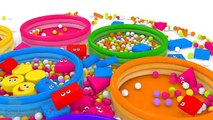 Learn Shapes for Children Baby Toddlers Kindergarten Kids 3D Colors Ball Pit Show DuckDuckKidsTV