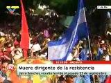 Muere dirigente de la resistencia en Honduras por heridas de bala