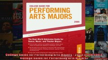 College Guide for Performing Arts Majors  2009 Petersons College Guide for Performing