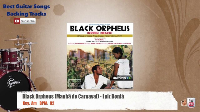 Black Orpheus (Manhã de Carnaval) - Luiz Bonfá Drums Backing Track