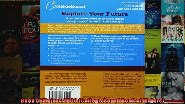 Book of Majors 2009 College Board Book of Majors