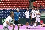 Futbol-Tenis en Lyon Nalbandian es fanatico del Futbol Tenis