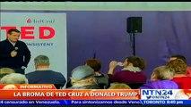 ¡Día de los inocentes! Vea la broma que le jugó Ted Cruz a su contrincante Donald Trump  NOTICIAS   ENTRETENIMIENTO Y VA
