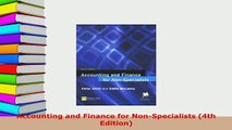 Download  Accounting and Finance for NonSpecialists 4th Edition PDF Full Ebook
