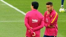 Clasico - Messi, Suarez et Neymar décontractés à l'entraînement