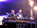 Grace Jones dancing with DJ's during Best of Rock @ Lowlands @ Grolsch tent