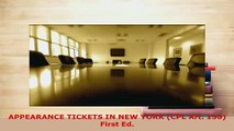 PDF  APPEARANCE TICKETS IN NEW YORK CPL Art 150 First Ed  Read Online