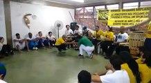 Prof. Saturnino (Grupo de capoeira angola Galo Cantô) e Prof. Gustávio (Angola Ouro Verde)