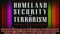 Read  Homeland Security and Terrorism Readings and Interpretations The McgrawHill Homeland  Full EBook