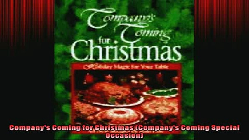 FREE PDF  Companys Coming for Christmas Companys Coming Special Occasion  FREE BOOOK ONLINE