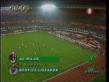 UEFA Champions League Milan vs Benfica 1990 final