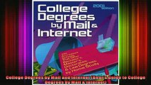 Free Full PDF Downlaod  College Degrees by Mail and Internet Bears Guide to College Degrees by Mail  Internet Full Free