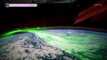 De sublimes aurores boréales filmées en haute-définition depuis l'espace