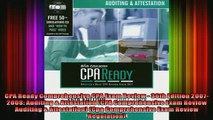 READ book  CPA Ready Comprehensive CPA Exam Review  36th Edition 20072008 Auditing  Attestation Online Free