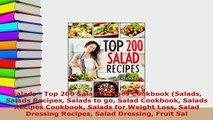 Download  Salads  Top 200 Salad Recipes Cookbook Salads Salads Recipes Salads to go Salad Cookbook Free Books
