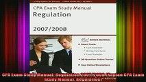 READ book  CPA Exam Study Manual Regulation 20072008 Kaplan CPA Exam Study Manual Regulation Full Free