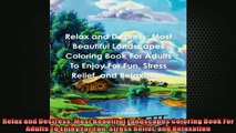 Free PDF Downlaod  Relax and Destress Most Beautiful Landscapes Coloring Book For Adults To Enjoy For Fun  DOWNLOAD ONLINE