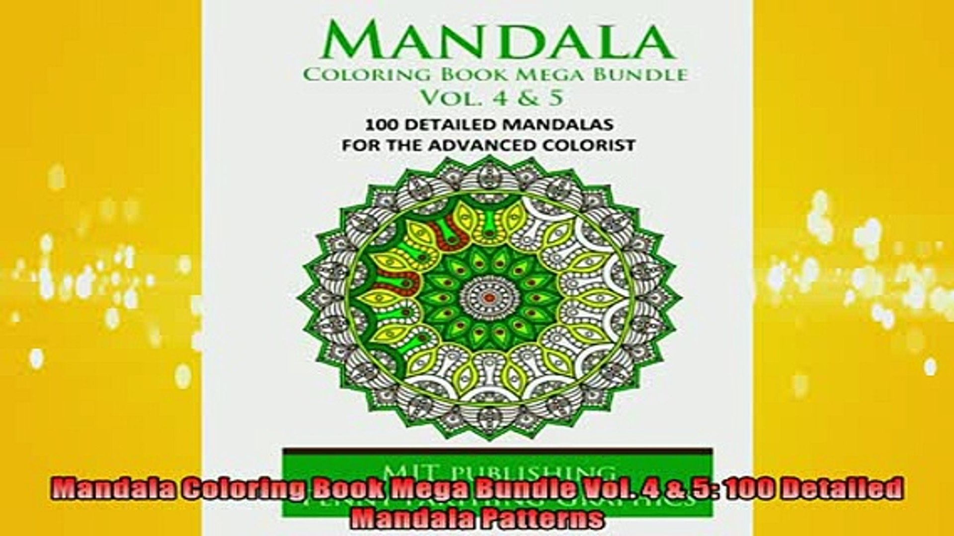 - EBOOK ONLINE Mandala Coloring Book Mega Bundle Vol 4 5 100