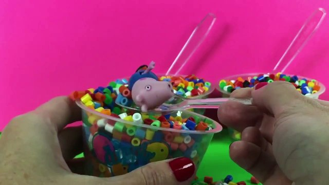 Rainbow Dippin' Dots Surprise Toys Hello Kitty Peppa Pig Masha i Medved Toy Videos Part 2