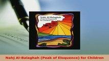 PDF  Nahj AlBalaghah Peak of Eloquence for Children Free Books