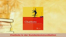 PDF  Chatbots in der Kundenkommunikation Free Books
