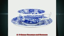 buy now  Spode Blue Italian Teacup and Saucer Set of 4
