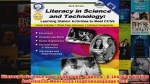 Free   Literacy in Science and Technology Grades 6  8 Learning Station Activities to Meet CCSS Read Download