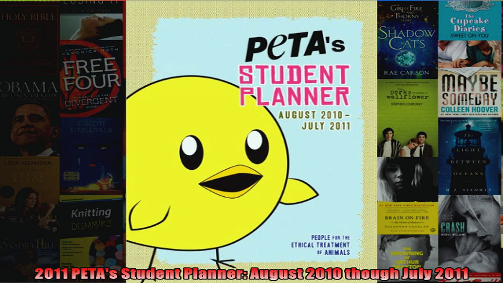 2011 PETAs Student Planner August 2010 though July 2011