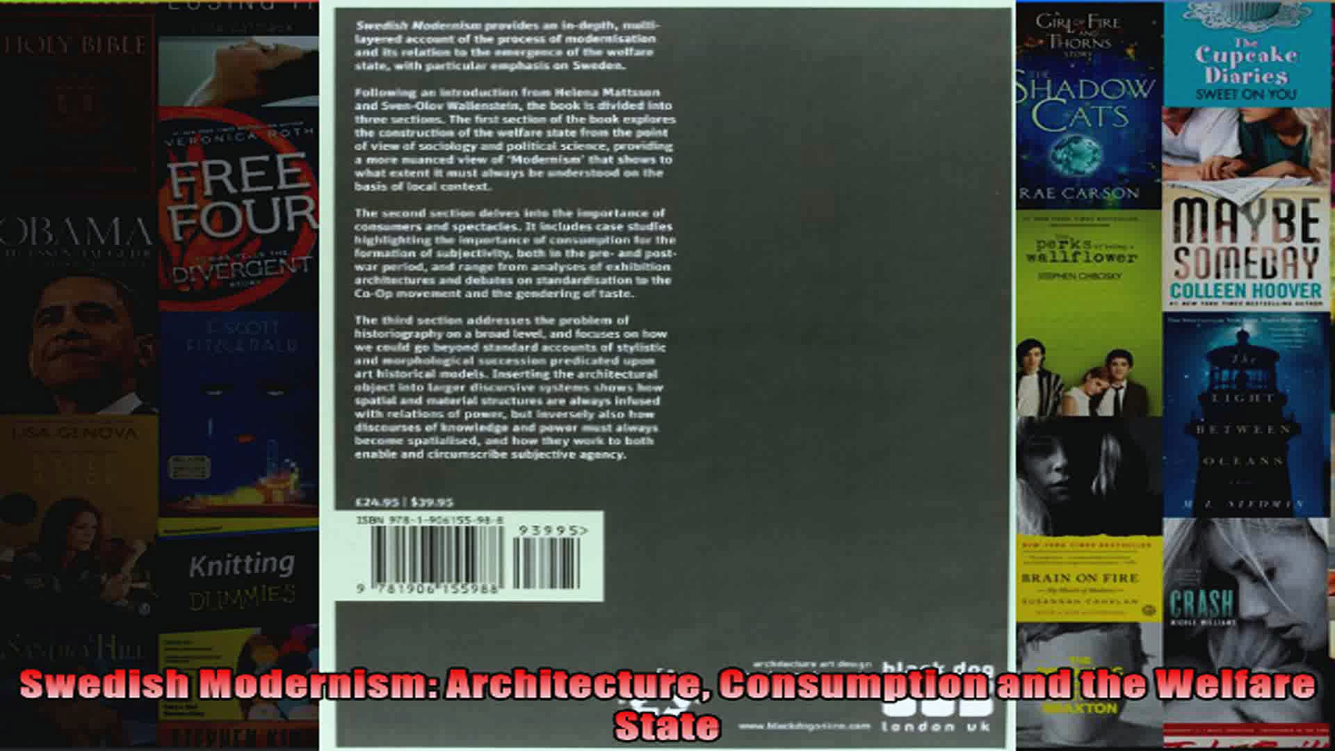 Swedish Modernism Architecture Consumption and the Welfare State