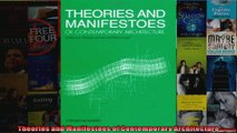 Theories and Manifestoes of Contemporary Architecture