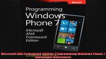 Microsoft XNA Framework Edition Programming Windows Phone 7 Developer Reference