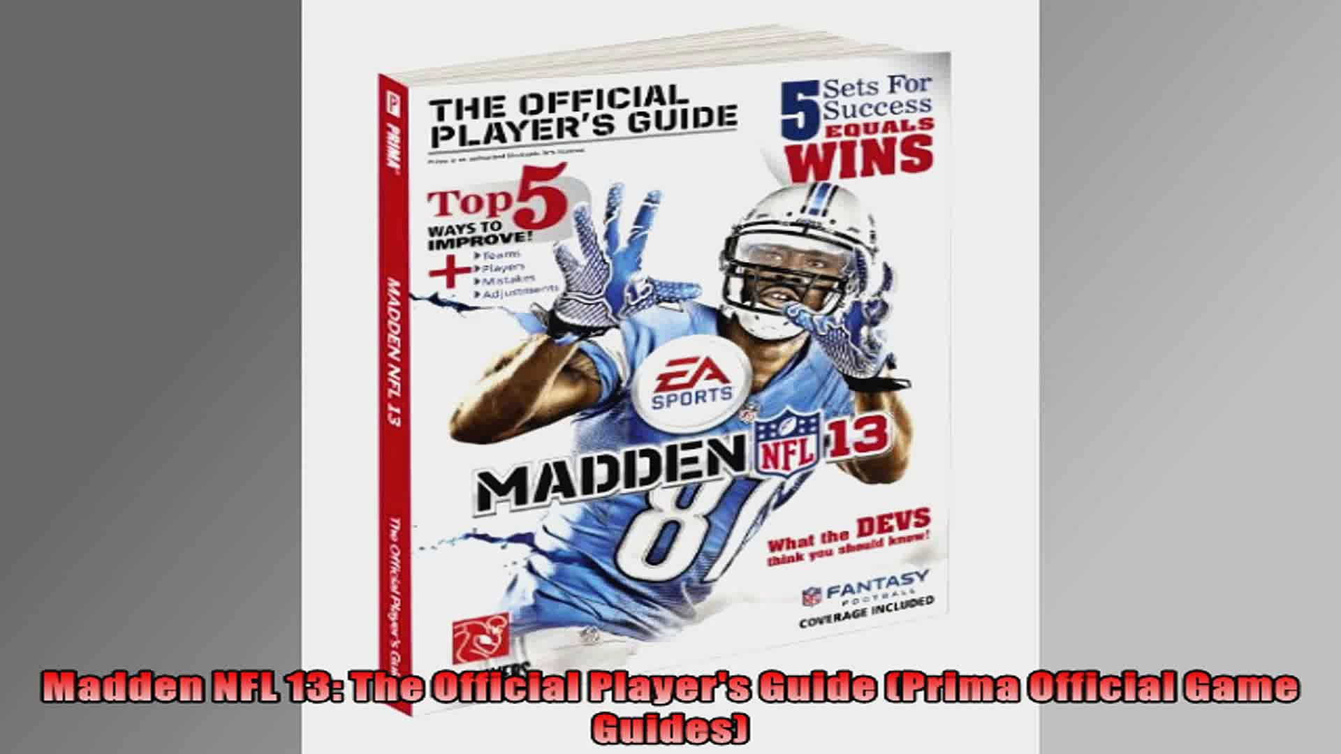 Madden NFL 13 The Official Players Guide Prima Official Game Guides